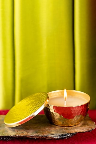 Gold Hammer Scented Candle (Bowl/Lid) by The Pitara Project