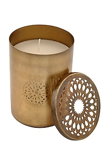 Gold Jaali Glass Scented Candle by The Pitara Project
