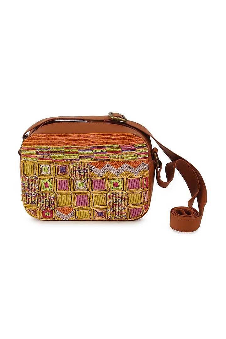 Multi Colored Hand Embroidered Bohemian Sling Bag by The Purple Sack