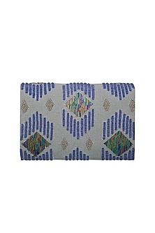 Multi Colored Hand Embroidered Clutch by The Purple Sack