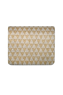 Golden & Silver Hand Embroidered Clutch by The Purple Sack