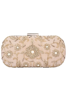 Badge Floral Motif Embroidered Clutch by The Purple Sack