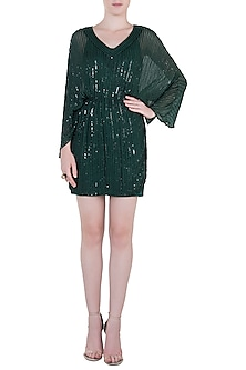 Green Embroidered Dress by Trish by Trisha Datwani