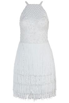 White Embroidered Dress by Trish by Trisha Datwani