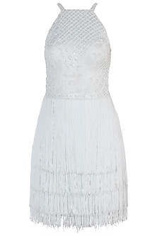 White Embroidered Dress by Trish by Trisha Datwani
