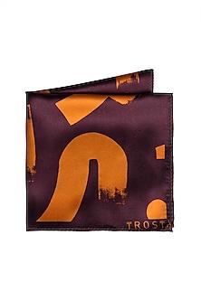 Purple Geometric Printed Pocket Square by Trosta