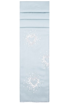 Ice Blue Sequins Heart Scarf by The Scarf Story