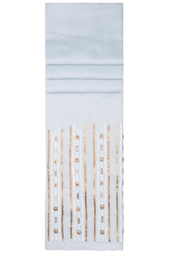 Ice Blue Sequins Scarf by The Scarf Story