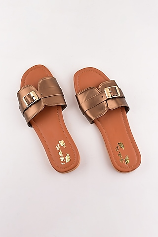 Copper Buckled Sandals by The Shoe Tales