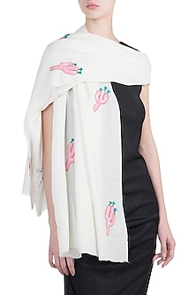 Off white cactus scarf by The Scarf Story