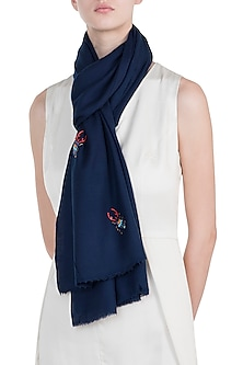 Navy blue multi bug scarf by The Scarf Story