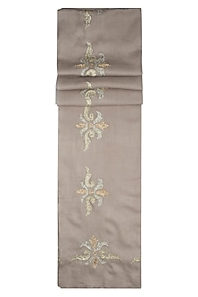 Brown fleur de lis scarf by The Scarf Story
