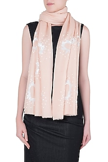 Pink sequins heart scarf by The Scarf Story