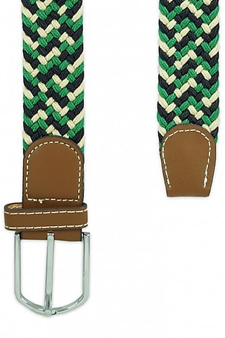Green Woven Silk Elasticated Belt by THE TIE HUB