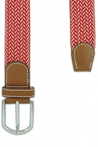 Red Woven Silk Elasticated Belt by THE TIE HUB