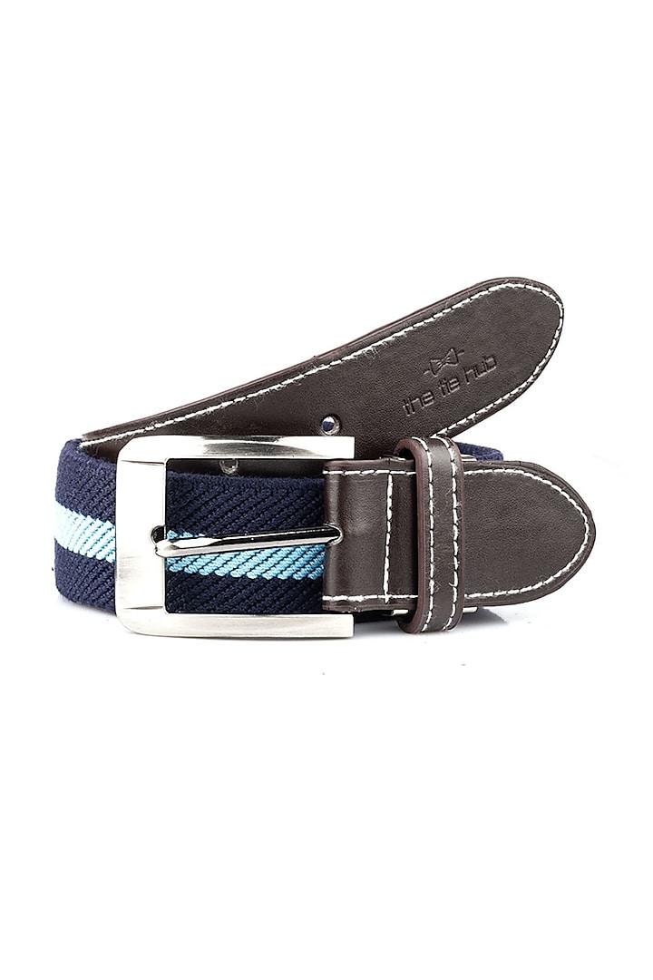 Blue Polypropylene Elasticated Belt by THE TIE HUB