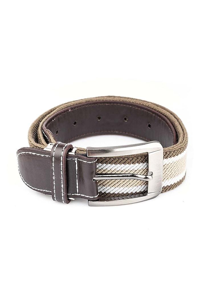 Cream Polypropylene Elasticated Belt by THE TIE HUB