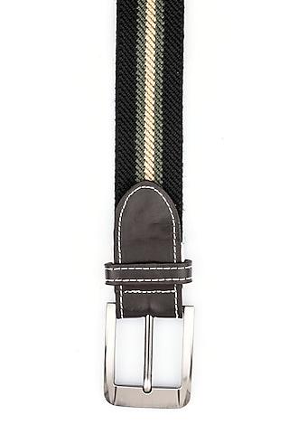 Black Polypropylene Elasticated Belt by THE TIE HUB