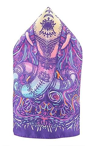 Purple Pure Silk Pocket Square by THE TIE HUB