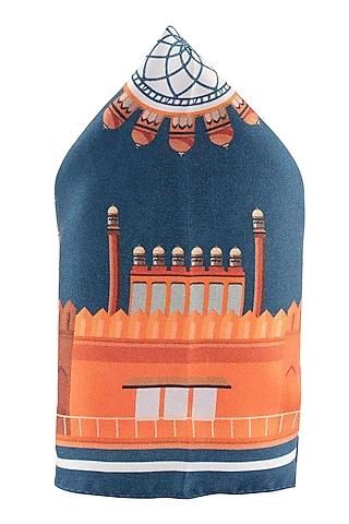 Orange Silk Hand Stitched Pocket Square by THE TIE HUB