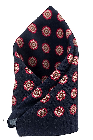 Blue Wool Pocket Square by THE TIE HUB