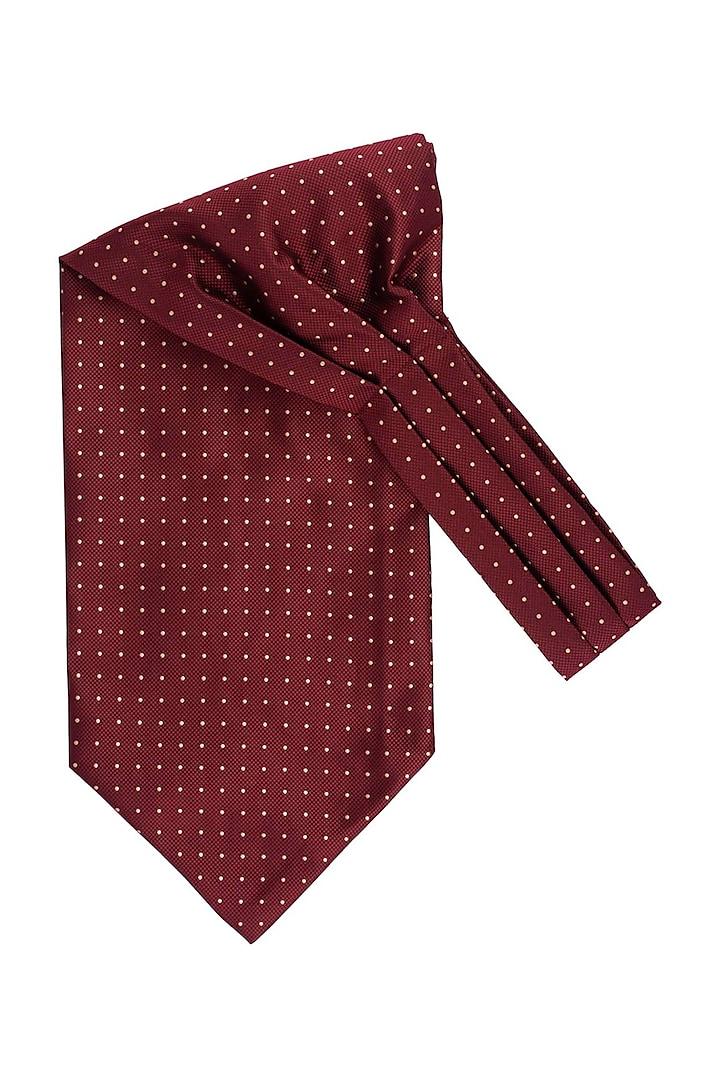 Maroon Microfiber Cravat by THE TIE HUB