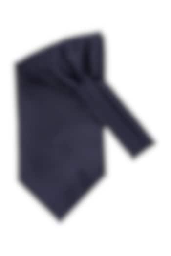 Navy Blue Cravat In Microfiber by THE TIE HUB