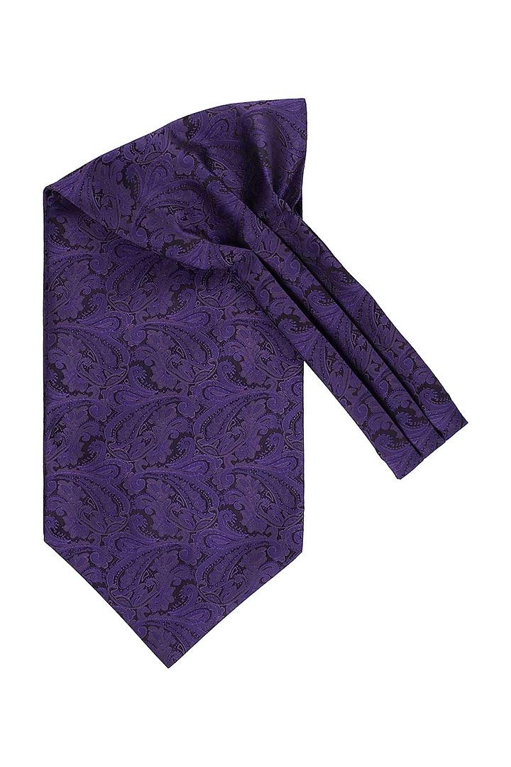 Purple Microfibe Cravat by THE TIE HUB