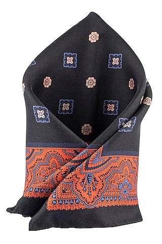 Blue Reversible Pocket Square by THE TIE HUB