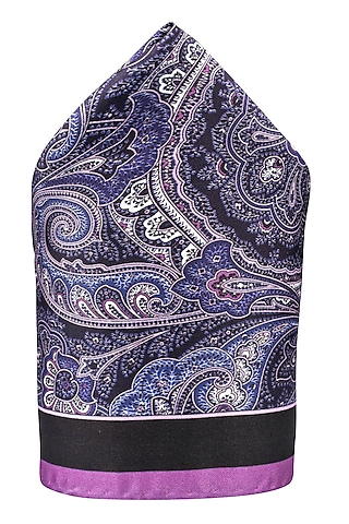 Purple Hand Stitched Pocket Square by THE TIE HUB