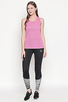 Blush Pink T-shirt With Round Neckline by Tuna London