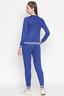 Cobalt Blue Top With Knitted Pants by Tuna London