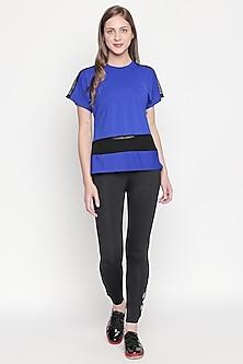 Cobalt Blue T-Shirt With Round Neckline by Tuna London