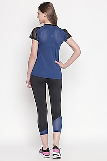 Cobalt Blue Top With Track Pants by Tuna London