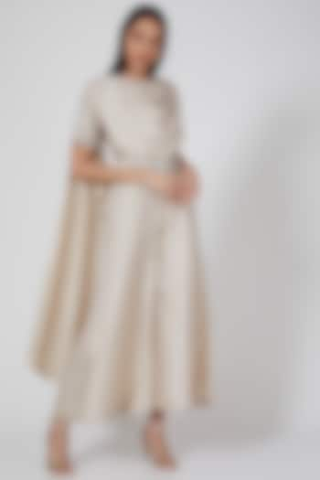 Ivory Hand Embroidered Draped Jumpsuit by Twinkle Hanspal