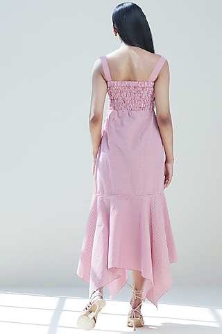 Blush Pink Corset Flared Dress by Twinkle Hanspal