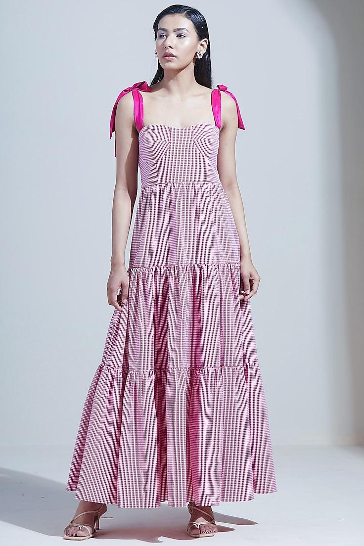 Blush Pink Maxi Dress by Twinkle Hanspal