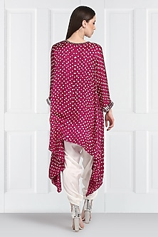 Pink Embroidered Bandhani Tunic by Twenty Nine