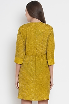 Yellow Bandhani Kediya Shirt by Twenty Nine