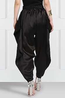 Black Adjustable Dhoti Pants by Twenty Nine