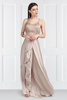 Nude Mirror Embroidered Skirt by Twenty Nine
