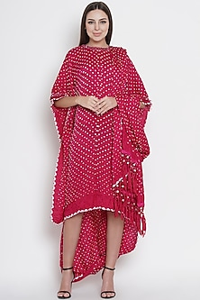 Pink Embroidered Draped Tunic by Twenty Nine