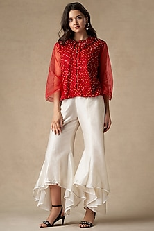 White Flared Tulip Pants by Twenty Nine