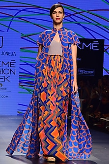 Blue Open Summer Jacket by Urvashi Joneja