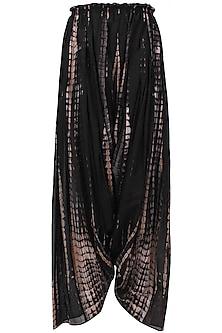 Blush and black tie and dye salwar pants by Urvashi Kaur