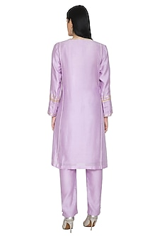Lavender Pearls Embroidered Kurta Set by Umrao Couture