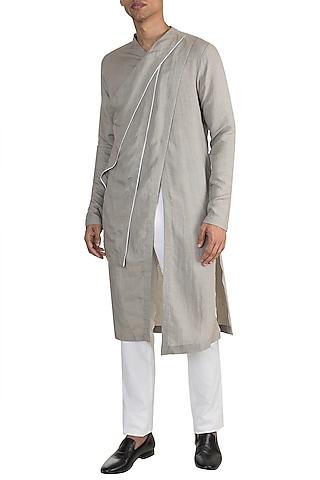 Grey Multi Layered Kurta by Unit by Rajat Suri