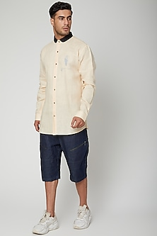 Lemon Yellow Dr. Smoke Shirt by Unit by Rajat Suri
