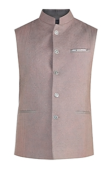 Grey Quilted Waistcoat by Unit by Rajat Suri