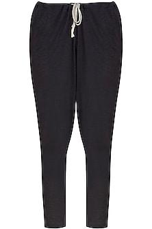 Dark Grey Low Crotch Jogger Pants by Kapda By Urvashi Kaur